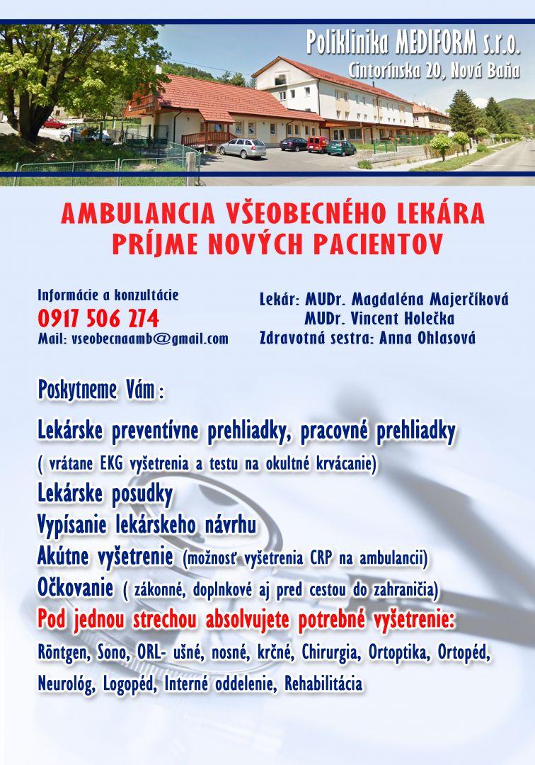 mediform.sk Všeobecná ambulancia pre dospelých 3