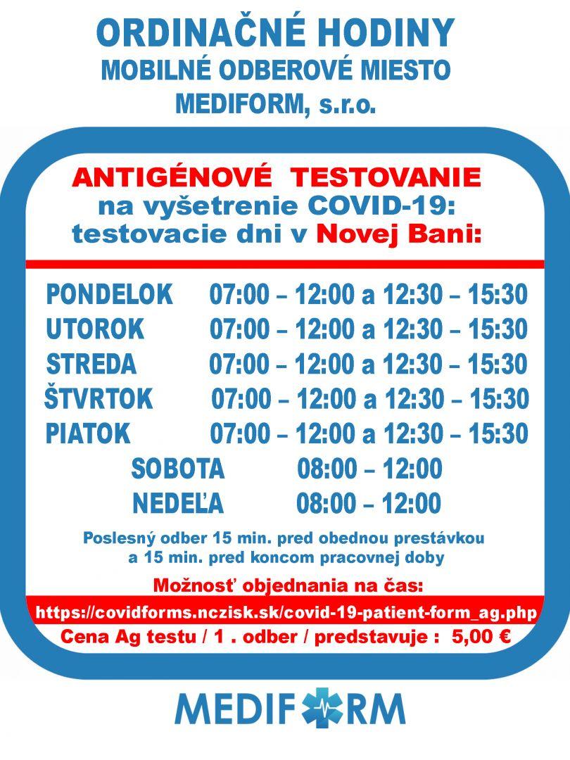 mediform.sk Odbery - Antigén 3